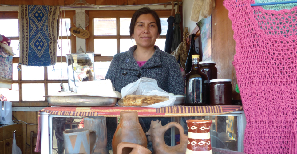 blanca chile microcredit client sells crafts