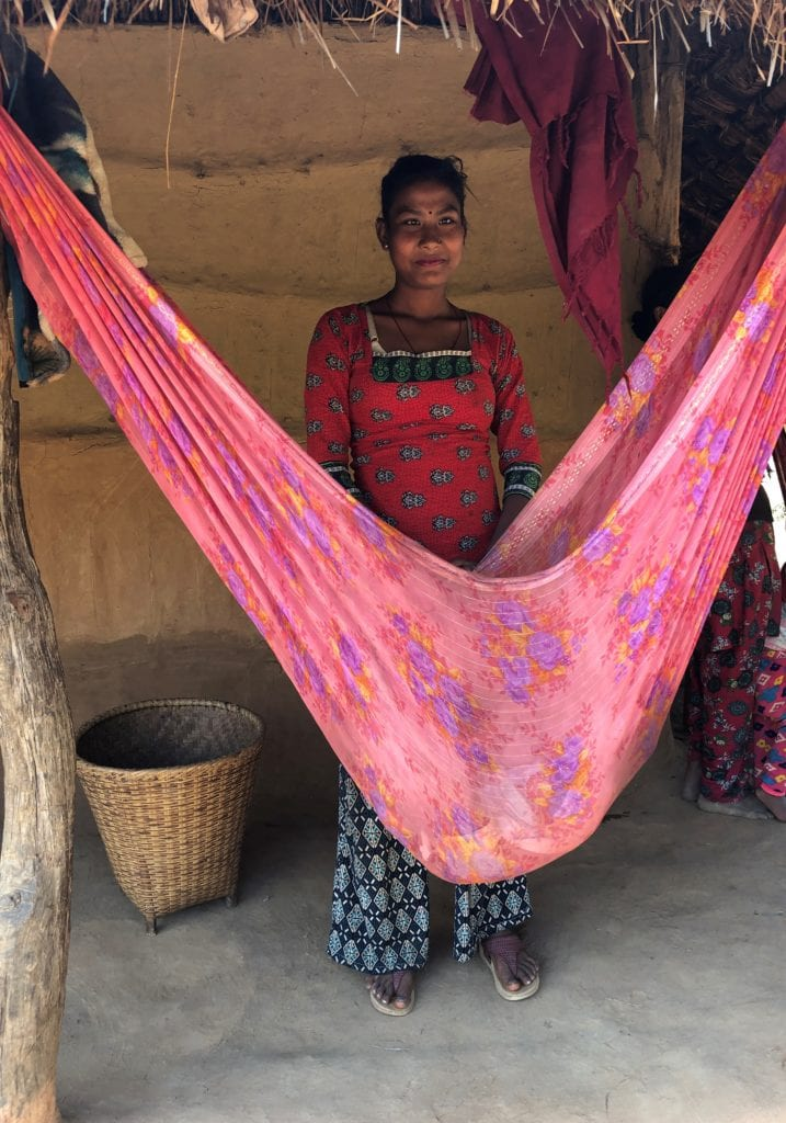 A Kalpavriksha customer we met on our recent trip to Nepal.